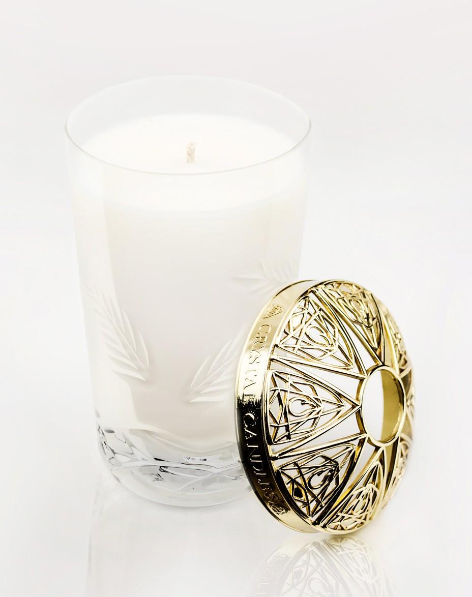 Rozmaryn i Lawenda Olejki eteryczne Crystal Candles luksusowa świeca w krysztale Vincent medium