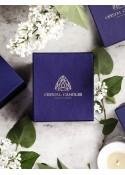 Crystal Candles Pudełko Standard Papierowe, Elegancka Luksusowa świeca zapachowa, złote logo, granatowe pudełko