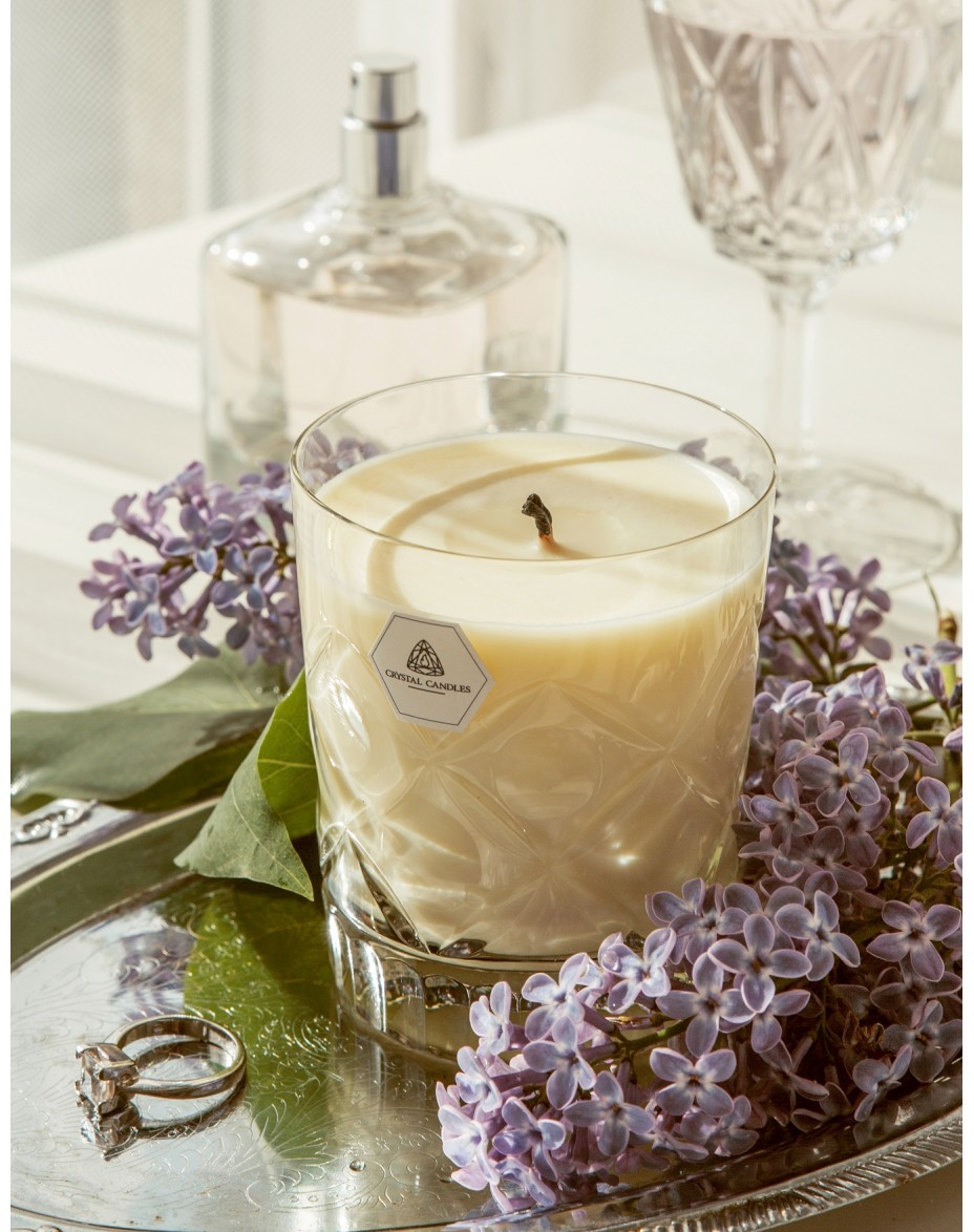 Geranium Orange Bergamot Essential Oils Laura Crystal Candles Scented Soy Candles