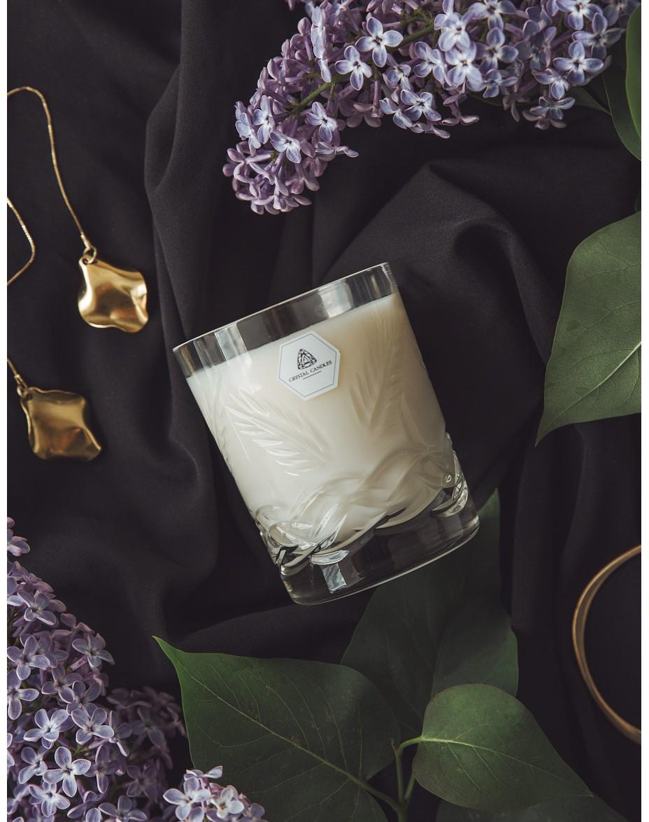 Crystal Candles Vincent regular luksusowa świeca zapachowa sojowa  naturalna Rozmaryn Lawenda