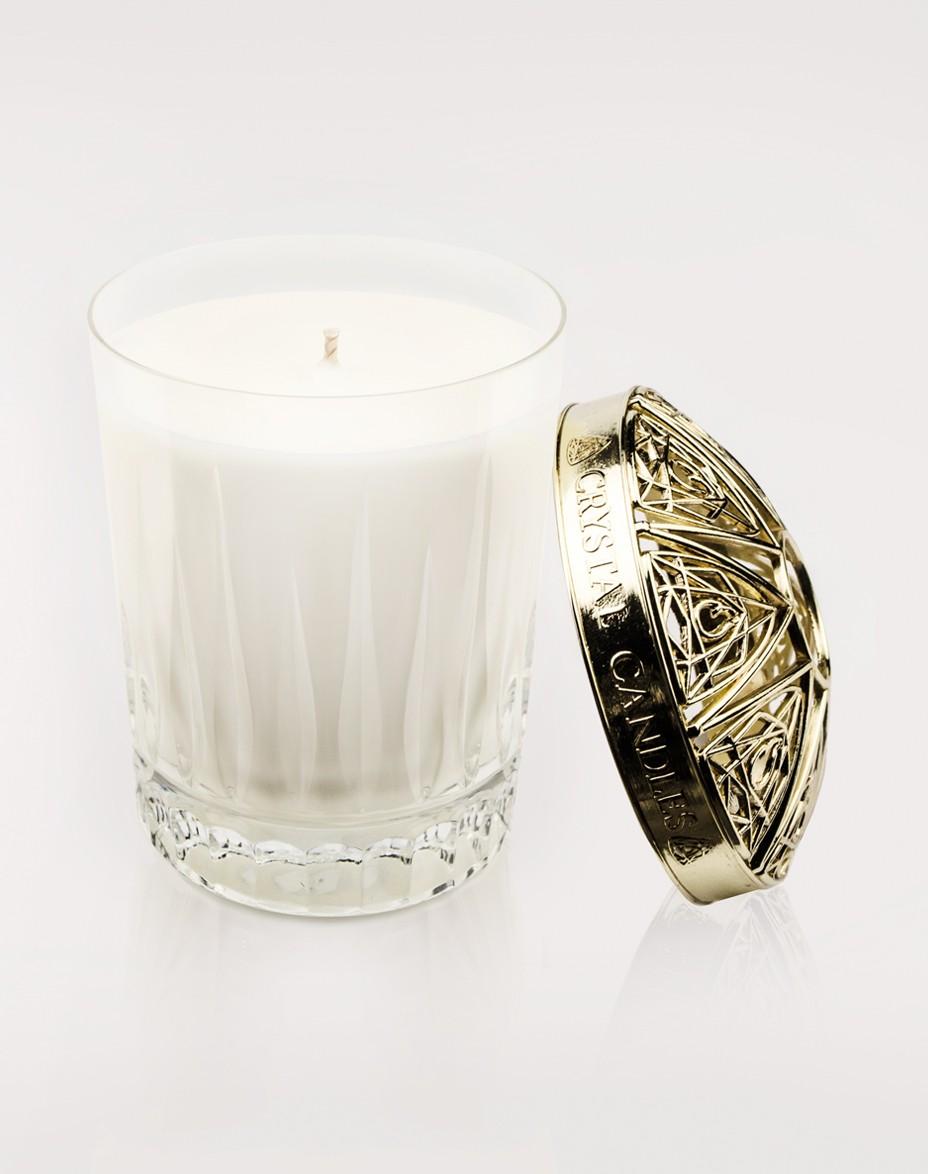 Róża i Paczuli Crystal Candles świeca zapachowa w krysztale Elegancka świeca Anthony regular