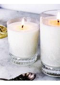 White Tea and Mint Crystal Candles Scented Soy Candles Emilia Medium
