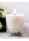 Białe Kwiaty Crystal Candles luksusowa świeca w krysztale Julietta regular