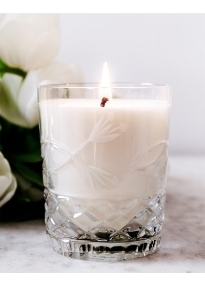 White Flowers Crystal Candles Scented Soy Candles Julietta Regular