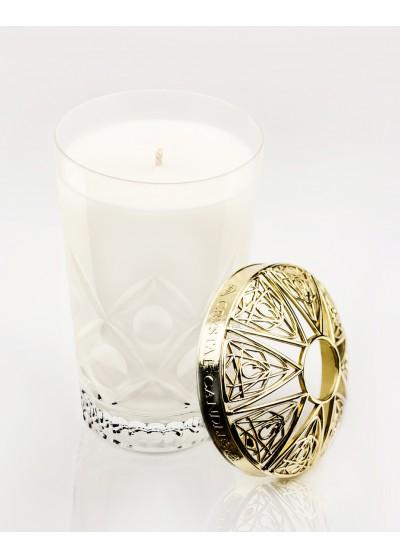 Gernaium, Pomarańcza i Bergamotka Olejki eteryczne Crystal Candles luksusowa świeca w krysztale Laura medium